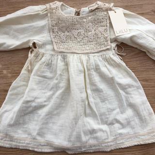 Caramel baby&child  - Liiluワンピース Liilu folk emma dress milk 2y