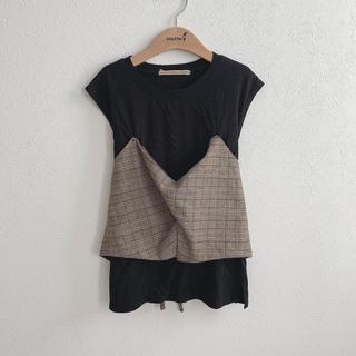 ローズバッド(ROSE BUD)のrose bad グレンチェックT(Tシャツ(半袖/袖なし))