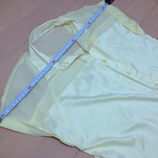 ジーユー(GU)のイエローシャツ寸法☆(シャツ/ブラウス(半袖/袖なし))