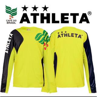 ATHLETA - ATHLETA カラープラクティスシャツ  長袖 蛍光イエロー Lサイズ