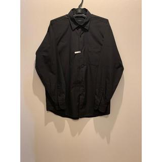コモリ(COMOLI)の19ss comoli コモリシャツ ブラック サイズ1(シャツ)