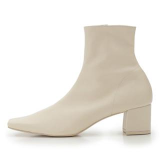 スナイデル(snidel)のSNIDEL スクエアショートブーツ Mサイズ(ブーツ)