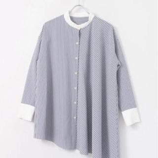 ケービーエフ(KBF)のアシンメトリーストライプロングシャツ KBF(シャツ/ブラウス(長袖/七分))