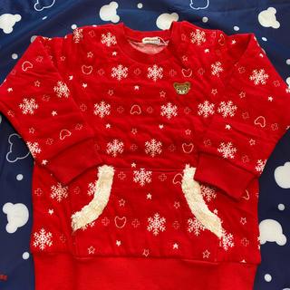 ミキハウス(mikihouse)のミキハウス スノー柄 プッチーニットキルトジャガード トレーナー 新品 110(Tシャツ/カットソー)