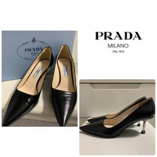 PRADA - 美品 プラダ ブラックレザー パンプス