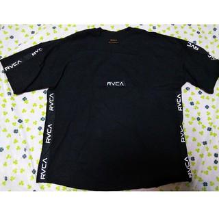 ルーカ(RVCA)のRVCA Tシャツ L 黒 ビッグ シルエット テープロゴ ROXY ルーカ(Tシャツ/カットソー(半袖/袖なし))