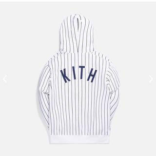 【MLB × Kith】ヤンキースストライプ パーカー