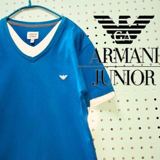 ARMANI JUNIOR - ARMANI JUNIOR  アルマーニジュニア  レイヤード風Tシャツ
