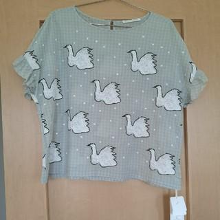 ミナペルホネン(mina perhonen)のミナペルホネン swan ブラウス36(シャツ/ブラウス(半袖/袖なし))