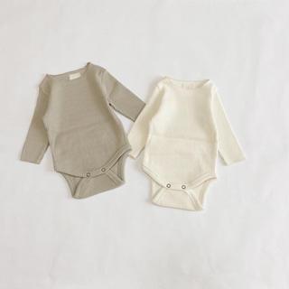 rib rompers 2set cream & beige 韓国子供服