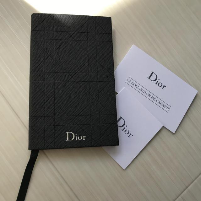 Dior(ディオール)のディオール Dior 手帳 ノート ブラック 非売品 ノベルティ ロゴ 新品 メンズのファッション小物(手帳)の商品写真