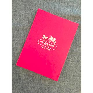 コーチ(COACH)のcoach メモ帳 〔ピンク〕(ノベルティグッズ)