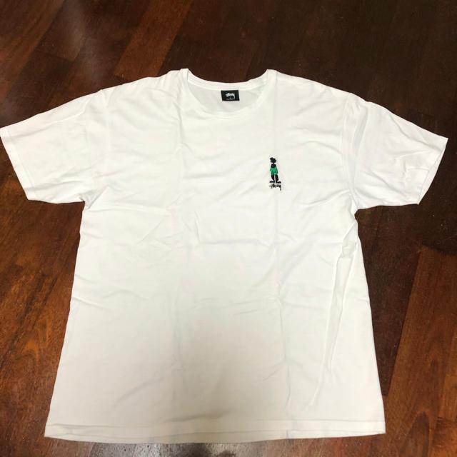 STUSSY(ステューシー)のstussy ステューシー Tシャツ ホワイト 胸ロゴ メンズのトップス(Tシャツ/カットソー(半袖/袖なし))の商品写真