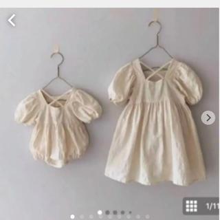 petit main - お値下げ★インポート 韓国子供服 バッククロスワンピース 80 ロンパース