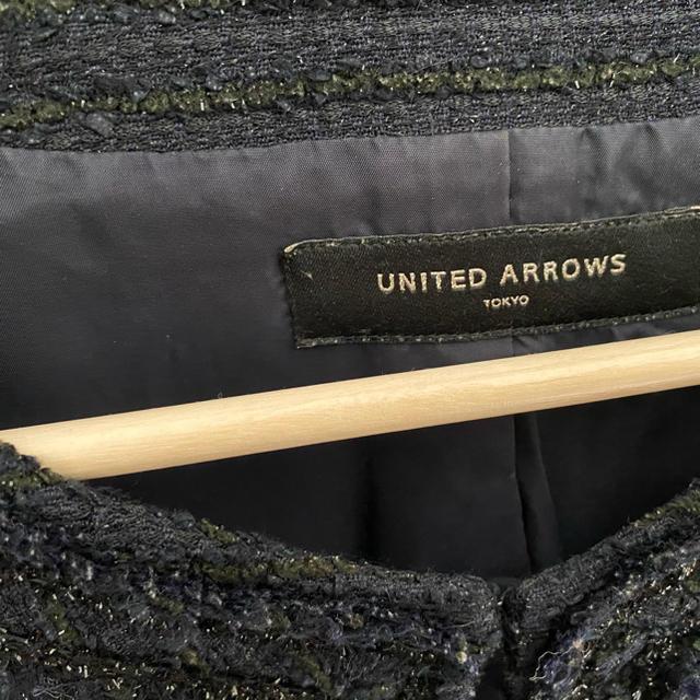 UNITED ARROWS(ユナイテッドアローズ)のノーカラーツイードジャケット レディースのジャケット/アウター(ノーカラージャケット)の商品写真