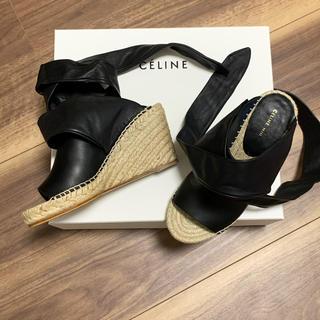 セリーヌ(celine)の⭐︎再値下げ celine セリーヌ サンダル エスパドリーユ 試着のみの未使用(サンダル)