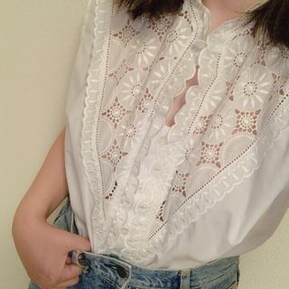 ロキエ(Lochie)のvintage lace blouse(シャツ/ブラウス(半袖/袖なし))
