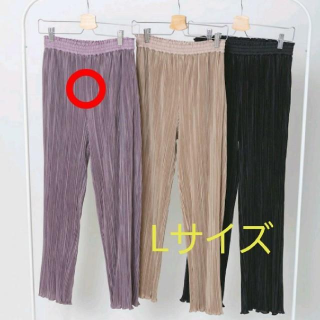 しまむら(シマムラ)のプチプラのあや  プリーツパンツ Lサイズ 中桃 しまむら レディースのパンツ(カジュアルパンツ)の商品写真