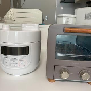 電気圧力鍋とオーブントースター家電セット