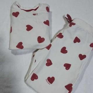 ジェラートピケ(gelato pique)のジェラートピケ パジャマ ルームウェア 120 ハート 女の子 長袖 長ズボン(パジャマ)