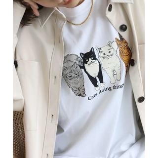 イエナスローブ(IENA SLOBE)のSLOBE citron. Cats ロンTEE (Tシャツ(長袖/七分))