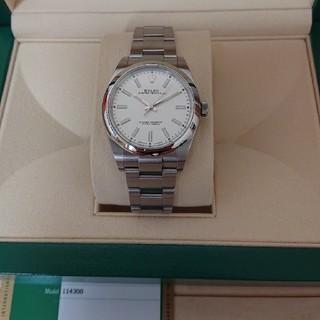 ロレックス(ROLEX)のロレックス ROLEX 114300 白 オイスターパーペチュアル39 美品(腕時計(アナログ))