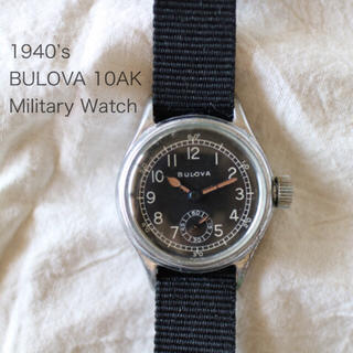 ブローバ(Bulova)の1940年代 ブローバ 10ak ミリタリー 軍用時計rrl army navy(腕時計(アナログ))