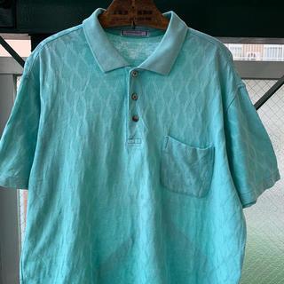 Saint Laurent - 90s Yves saint Laurent 刺繍ロゴ ポロシャツ 総柄 希少
