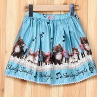 シャーリーテンプル(Shirley Temple)のシャーリーテンプル 140 猫 サックス(スカート)
