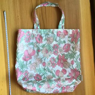 JINO 小ぶり 手提げバッグ ピンク 花柄