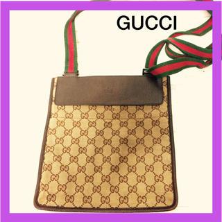 Gucci - オールドグッチ シェリー ショルダーバッグ GGキャンバス