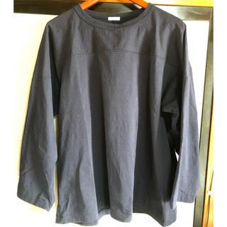コモリ(COMOLI)のcomoli フットボールT ネイビー(Tシャツ/カットソー(七分/長袖))