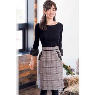 Apuweiser-riche - 泉里香着用♡ポケット刺繍チェックタイトスカート