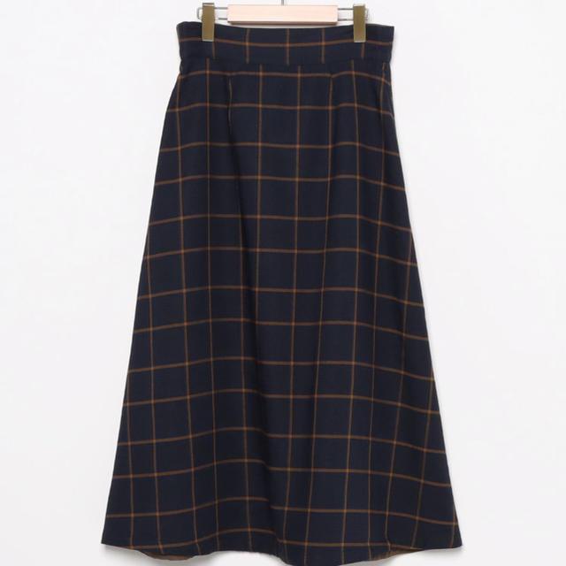 nano・universe(ナノユニバース)のナノユニバース  チェックロングスカート レディースのスカート(ロングスカート)の商品写真