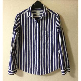 アダムエロぺ(Adam et Rope')のシャツ ストライプ アダムエロペ ブルー(シャツ/ブラウス(長袖/七分))