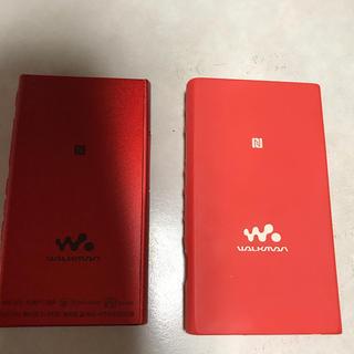 ウォークマン(WALKMAN)のSONY  WALKMAN  A35   シリコンケース付き(ポータブルプレーヤー)