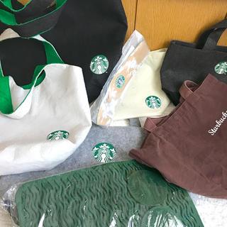スターバックスコーヒー(Starbucks Coffee)のスターバックス コースター、カップスリーブ、トートバックなど福袋セット(トートバッグ)