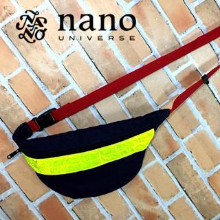 ナノユニバース(nano・universe)の【新品】nano UNIVERSE カラーリフレクターウエストバッグ ネイビー (ボディーバッグ)