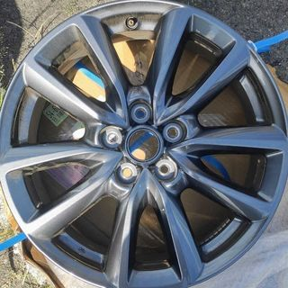 マツダ(マツダ)のMAZDA3 18インチ 純正アルミホイール ダークグレー塗装(タイヤ・ホイールセット)