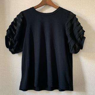 フェリシモ(FELISSIMO)のトップス 黒 シースルー(Tシャツ(半袖/袖なし))
