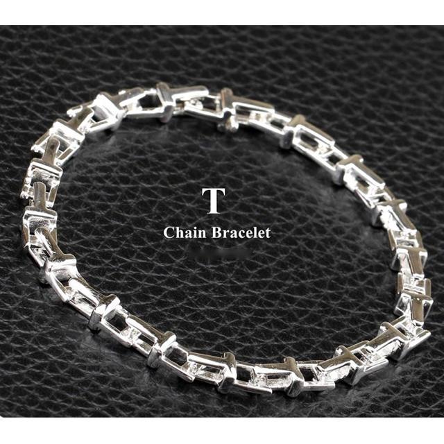 Tiffany & Co.(ティファニー)の3代目JSB岩田剛典愛用 Tチェーンブレスレット シルバー 銀色 メンズのアクセサリー(ブレスレット)の商品写真