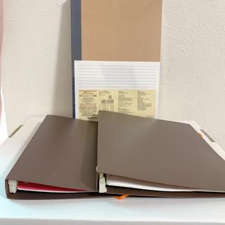 ムジルシリョウヒン(MUJI (無印良品))の未開封MUJIB5サイズ5冊セットノートとルーズリーフ、ファイルセット(ノート/メモ帳/ふせん)