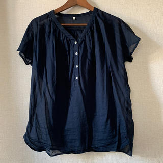 ムジルシリョウヒン(MUJI (無印良品))の無印 シースルー トップス(シャツ/ブラウス(半袖/袖なし))