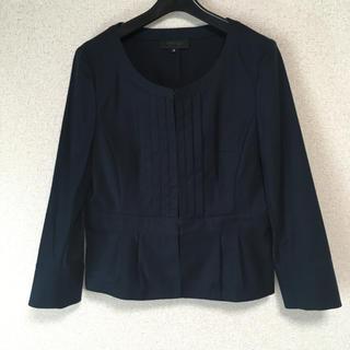 アンタイトル(UNTITLED)のアンタイトル ノーカラー ジャケット 3 濃紺 洗濯可 春夏 DMW(ノーカラージャケット)