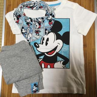 H&MミッキーマウスTシャツ、スタイ、ズボン3点セット
