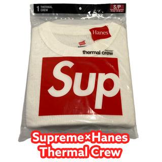 シュプリーム(Supreme)のSupreme Hanes Thermal Crew S ヘインズ サーマル(Tシャツ/カットソー(七分/長袖))