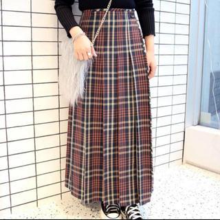 イエナスローブ(IENA SLOBE)のスローブイエナ チェックプリーツロングスカート♡(ロングスカート)