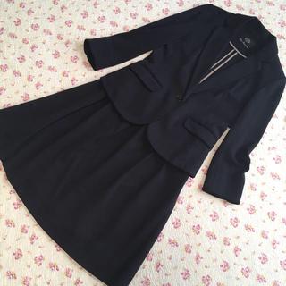 クリアインプレッション(CLEAR IMPRESSION)のクリアインプレッション スカートスーツ 2 W66 黒 ストレッチ DMW(スーツ)
