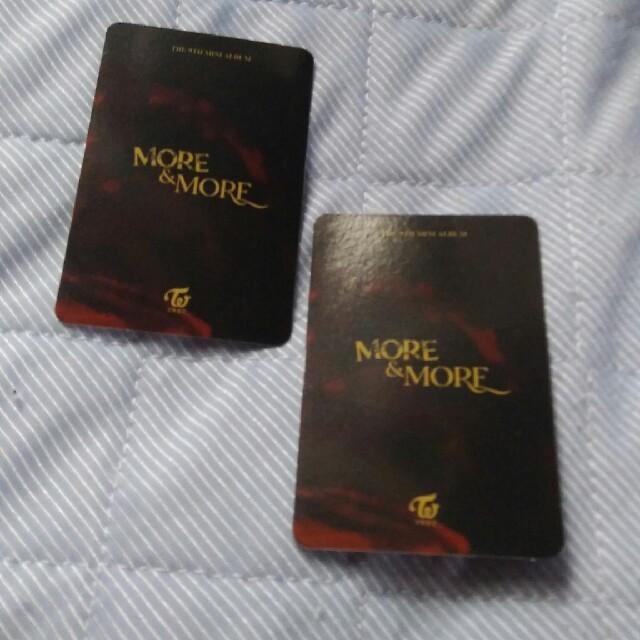 TWICE  MORE&MORE  ユニット ALLトレカ  エンタメ/ホビーのタレントグッズ(アイドルグッズ)の商品写真