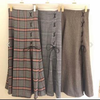 snidel - snidel チェックスリットロングスカート♡